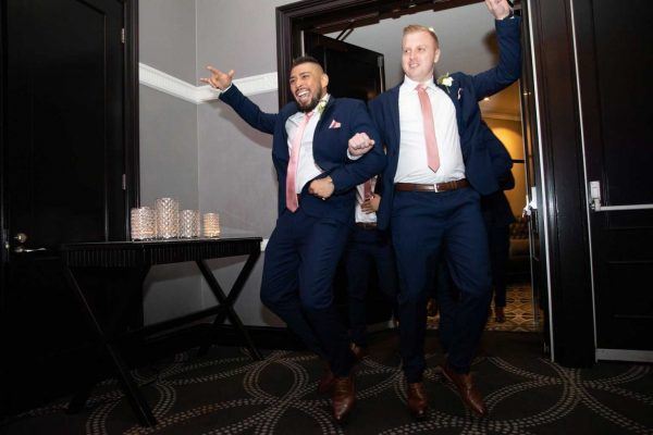 two boys dancing with wedding dj melbourne